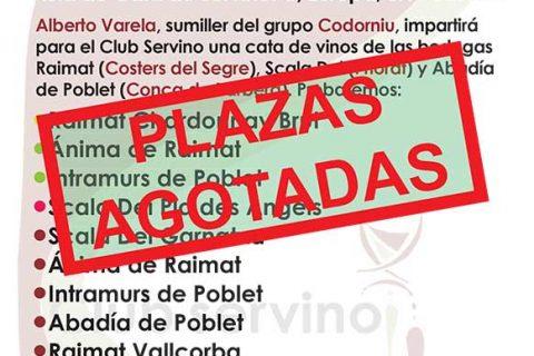 PLAZAS AGOTADAS PARA LA CATA DE BODEGAS RAIMAT, SCALA DEI Y ABADÍA DE POBLET
