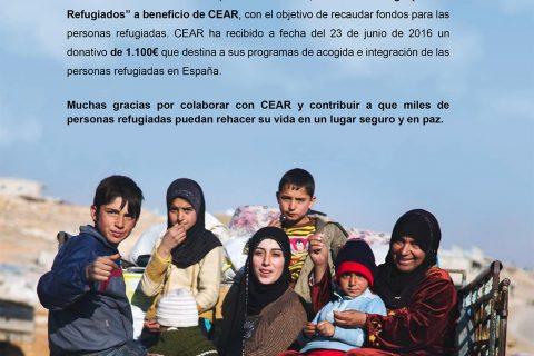 UN TANGO POR LOS REFUGIADOS RECAUDA 1.100€ PARA CEAR