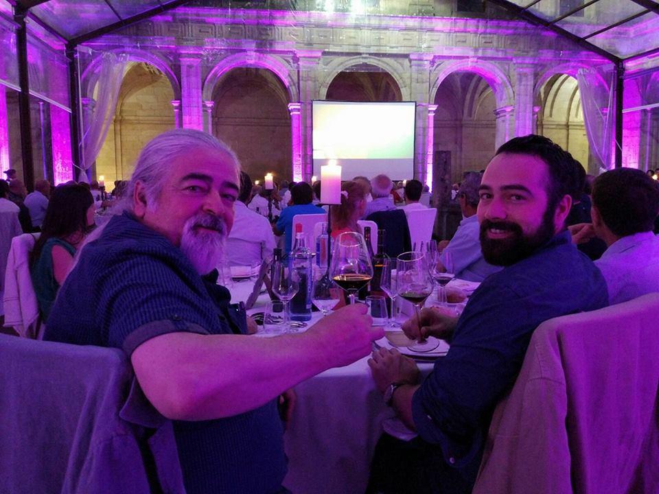 En la Cena de Gala junto a bodegueros y viticultores por el 25 aniversario de Ribeira Sacra. 14/07/17 Monforte de Lemos