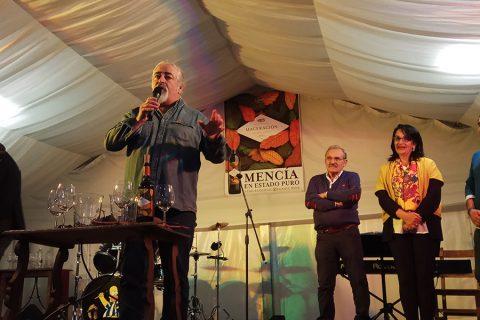 Luis Paadín pregonero en la Fiesta del Vino Nuevo del Palacio de Canedo, en El Bierzo